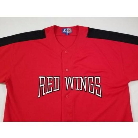 best sneakers 2d05e fc16d Starter Detroit Red Wings Baseball Jersey Mens 2XL
